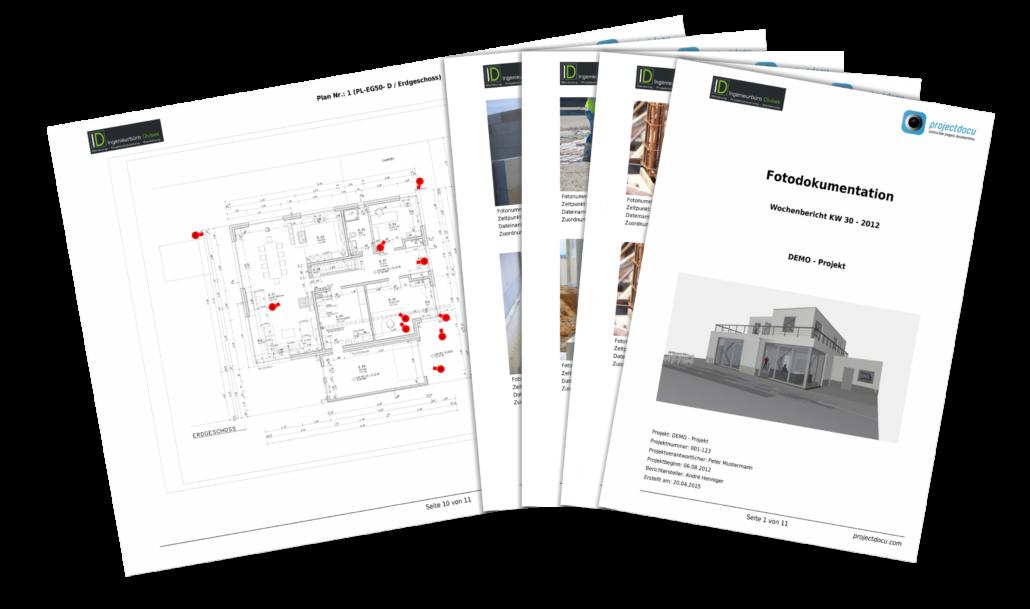 Baudokumentation projectdocu Berichterstellung