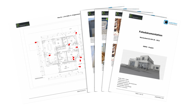 Bautagebuch projectdocu Berichterstellung